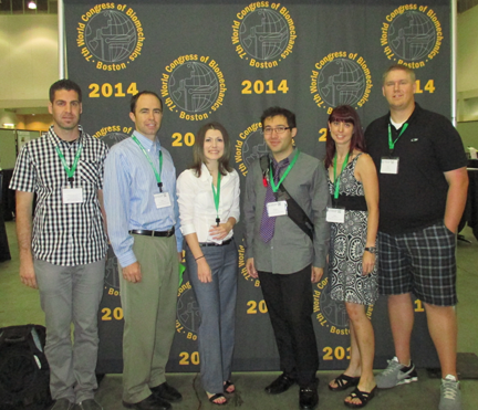 From Left to Right: Rami Short, Dr. Merryweather, MaryEllen Hunt, Kryztopher Tung, Marissa Christman, Chris Wilson attending the 7th World Congress of Biomechanics in Boston, July 2014.